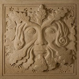 Jim Milner Figurative Sculpture - Green Man