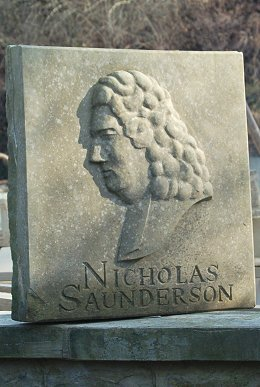 Jim Milner Figurative Sculpture - Profile portrait of the blind mathematician Dr Nicholas Saunderson, II. 2007