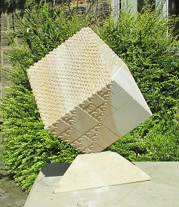 Jim Milner Geometric Sculpture Fractal Cube