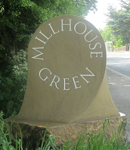 Jim Milner Geometric Sculpture - The Millhouse Bell village waymarker stone