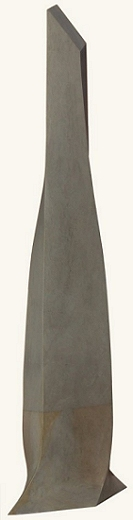 Geometric stone sculpture Blue Obelisk - 2
