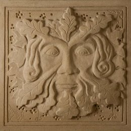 jim milner figurative stone sculpture - green man