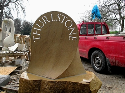 Thurlstone boundary stone ready to be delivered