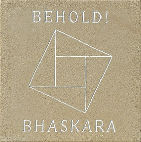 Bhaskara engraved and painted sandstone