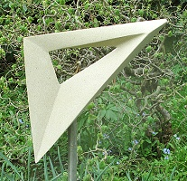 Geometric stone sculpture Möbius Set Square Garden Up Sheffield