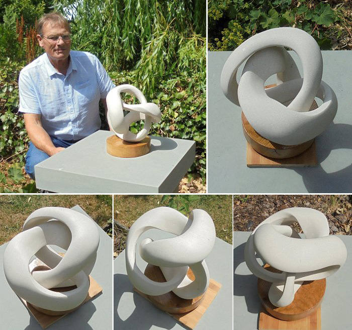 Jan M Fielden trefoil mobius sculpture